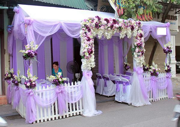 Cho thuê khung rạp đám cưới chất lượng cao tại Ngàn Thông