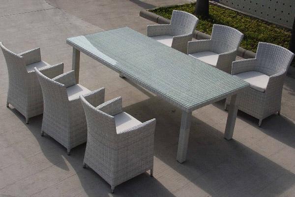 thuê bàn ghế mây