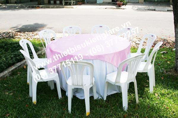 Cho thuê bàn ghế nhựa