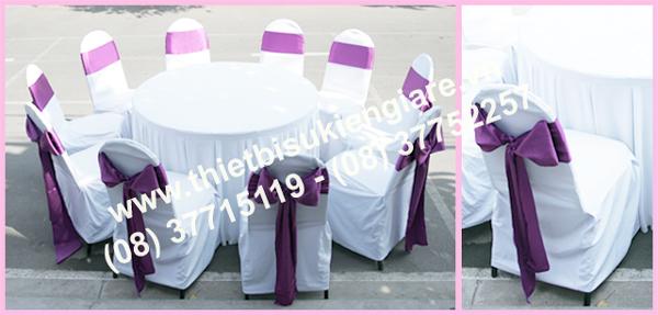 Cho thuê bàn ghế tiệc cưới đẹp phụ thuộc vào nhiều yếu tố